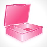 Tiffin Box. Illustration of empty tiffin box on abstract white background Stock Photography