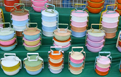 Tiffin carriers Royalty Free Stock Photos