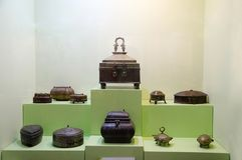 Tiffins bronzeo e d'ottone, museo di Kelkar, Pune, maharashtra, India Fotografia Stock