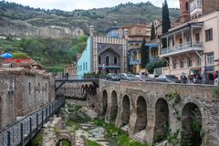 Tiflis Georgia Hot Baths 2018 Stockbild
