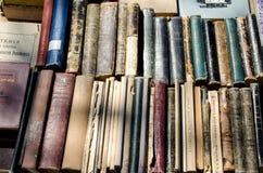 TIFLIS, GEORGIA, im April 2017:- alte Bücher auf der Flohmarkt Lizenzfreie Stockbilder