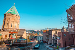 Tiflis, Georgia - 18. Juli 2015 Ansicht XIII des Jahrhunderts St George Lizenzfreie Stockfotografie