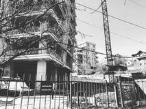 TIFLIS, GEORGIA - 25. MÄRZ 2018: Bau eines neuen hohen Wohnwohngebäudes in Tiflis, Georgia Stockfoto