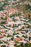Tiflis Georgia Vogelperspektive des Wohnviertels der alten Stadt Stockfotos