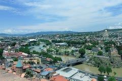 Tiflis von der Spitze stockfotografie