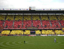 TIFO RC LENS - ANGERS FOOTBALL, STADE FELIX BOLLAERT - DELELIS, FRANCE Stock Images