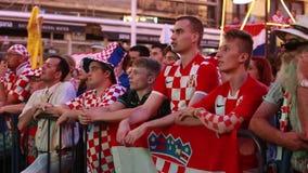Tifosi croati stock footage