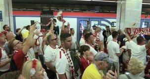 Tifosi della metropolitana della Polonia video d archivio