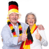 Tifosi senior tedeschi Immagini Stock Libere da Diritti