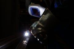 tig焊工 库存照片