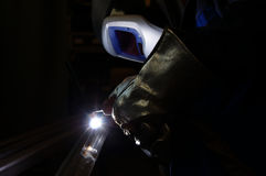 TIG welder Stock Photo