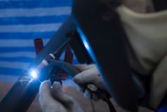 Tig welding Stock Photo