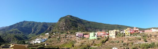 Tigaiga massif panoramic Stock Photo