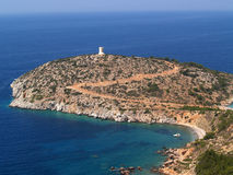 Tigani beach in Chios - Greece stock images