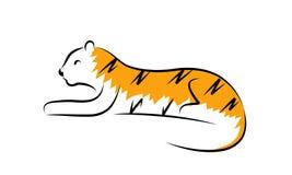 Tiger. Simple illustration of a tiger vector illustration