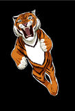Tiger. A tiger in air rush royalty free illustration