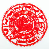 Tiger. The paper cutting. The Chinese Zodiac Royalty Free Stock Images