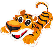 Tiger. Vector illustration shows a jolly tiger stock illustration
