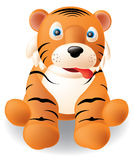 Tiger. Cute tiger, cartoon style illustration Royalty Free Stock Photos