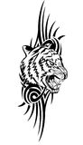 Tiger. Vector illustration head tiger with patterns Stock Photo