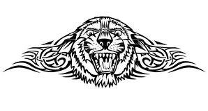 Tiger. Vector illustration head tiger with patterns Stock Images