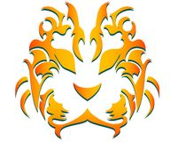 Tiger. Vector, abstract design of a tiger Stock Images