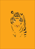 Tiger. Illustration Vector Tiger Shadow Cartoon Royalty Free Illustration
