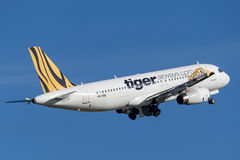 Tiger Airways Tigerair Airbus A320 aircraft. Royalty Free Stock Photography