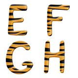 Tiger alphabet part 2 Stock Image