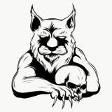 Tiger anger. Vector illustration of a tiger head. royalty free illustration