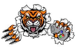 Tiger Angry Esports Mascot Image stock