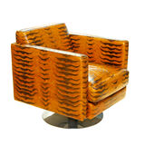 Tiger armchair Royalty Free Stock Images