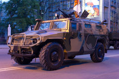 Tiger Armored Vehicle. Rostov-on-Don, Russia, May 4, 2012 Preparing for the Victory Parade Stock Photography