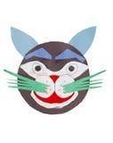 A tiger arting symbol. Decorative tiger symbol face cutting Royalty Free Stock Photos