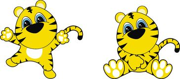 Tiger baby cartoon. In vector format very easy to edit stock illustration