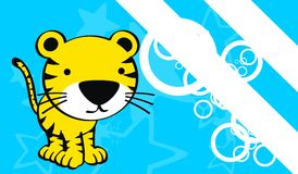 Tiger baby cute cartoon background Royalty Free Stock Images