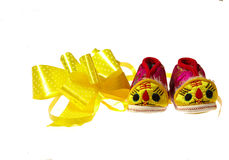Tiger baby shoes Royalty Free Stock Image