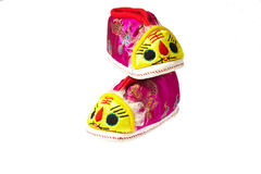 Tiger baby shoes Royalty Free Stock Photos
