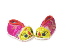 Tiger baby shoes Royalty Free Stock Photography