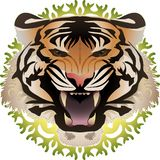 Tiger with background royalty free illustration