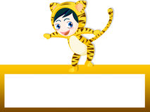 Tiger banner Stock Images