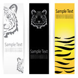 Tiger banners Royalty Free Stock Photo
