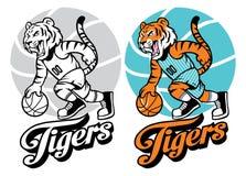 Tiger basketball mascot Stock Photo