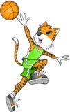 Tiger Basketball Player Vector Stockbilder