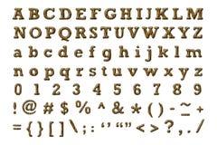 Tiger bengal alphabet Stock Images