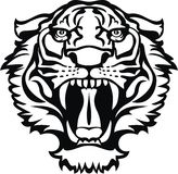 Tiger black/white tattoo Stock Photo