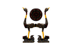 Tiger block bird drum stand Stock Image