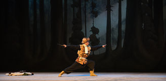 """The tiger boxing-Stage one corner-Peking Opera """"Taking Tiger Montain By Strategy"""" Stock Photo"""