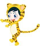 Tiger boy royalty free stock photography