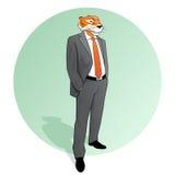Tiger Businessman Circle Foto de Stock